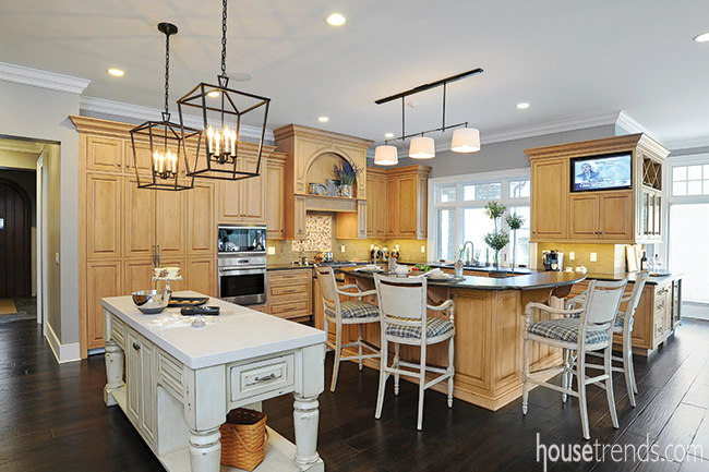 Kitchen islands serve different purposes