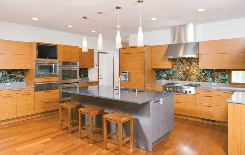Kitchen cabinets offer a unique design