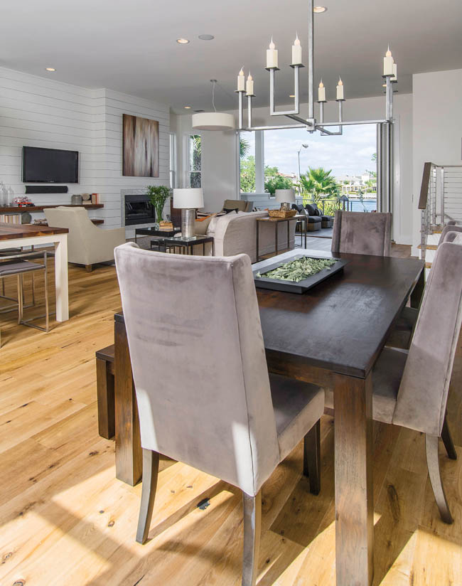 Modern dining room tables set the tone