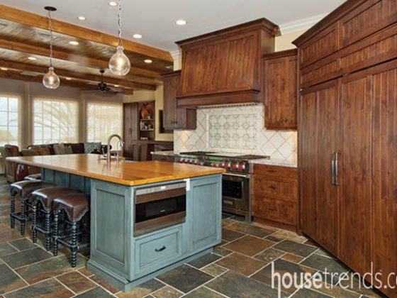 Kitchen island with rustic charm