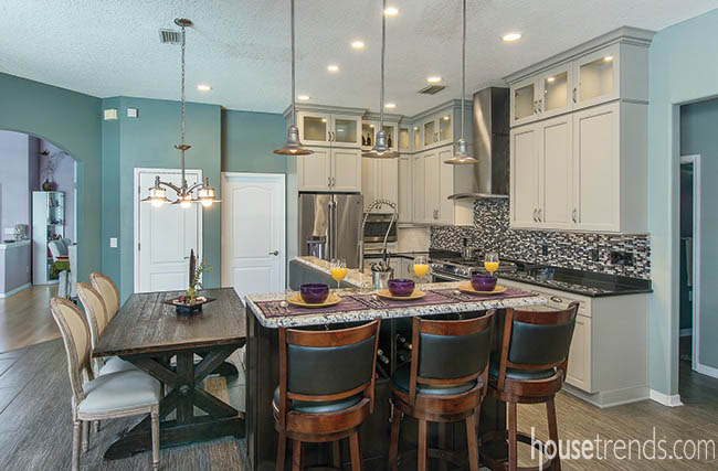Kitchen cabinets bring color to a home