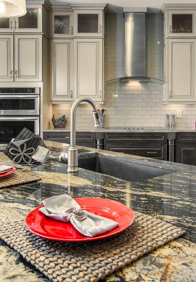 Granite colors portray the dark side of kitchen design