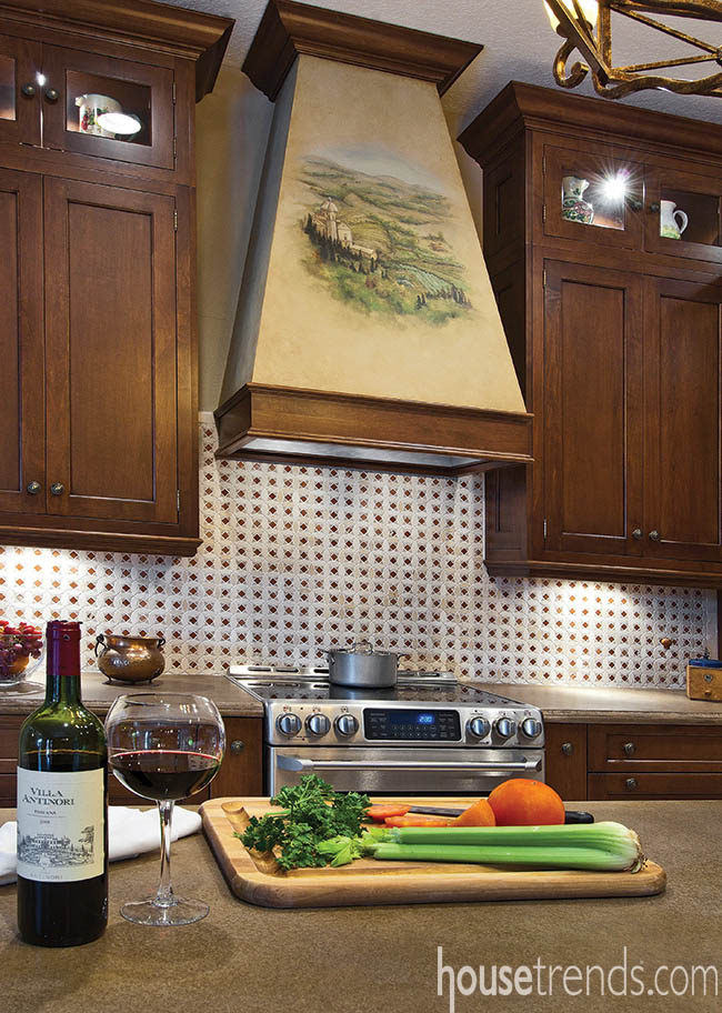 Hood complements a kitchen's interior design