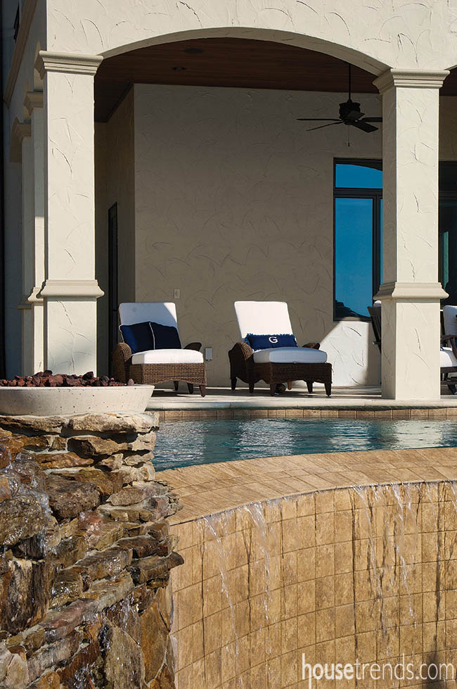 Outdoor furniture is safe from the elements