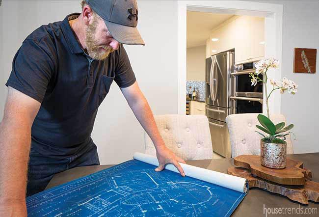 Homeowner unearths orginal blueprints during remodel