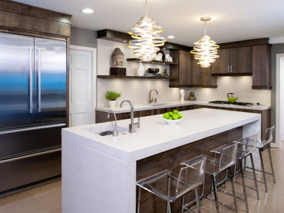 Kitchen ceiling lights add personality