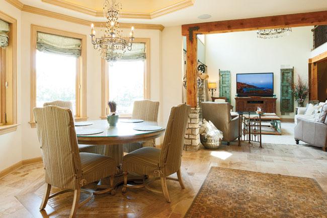 Travertine tile floor can be formal or informal