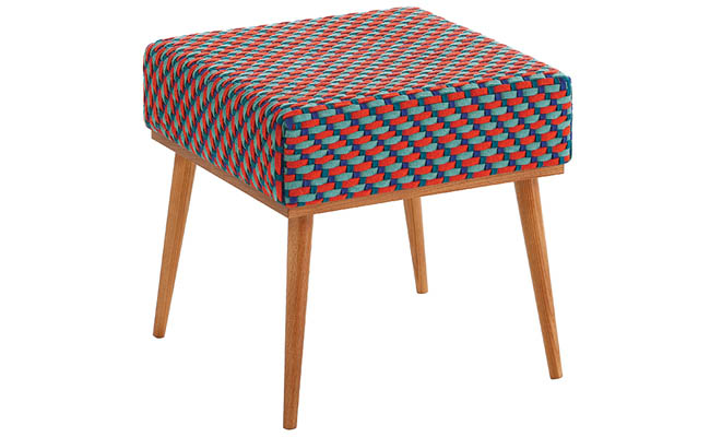 Patterned stool adds color to any space
