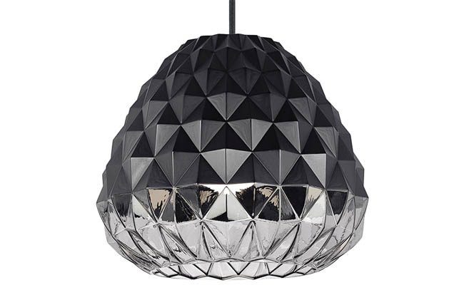 Pendant light plays with the light and darkness