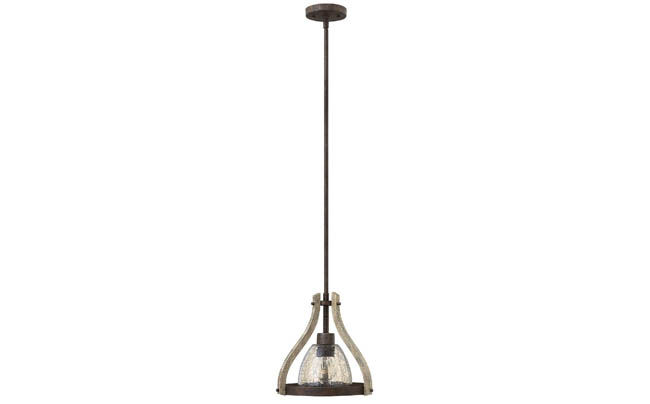 Pendant light with historical charm