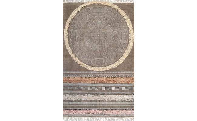 Rug with a variety of textures
