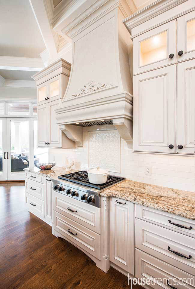 Light colored cabinetry in a traditional kitchen
