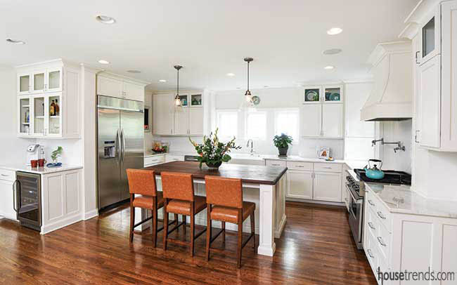 Kitchen design ideas focus on small pops of color