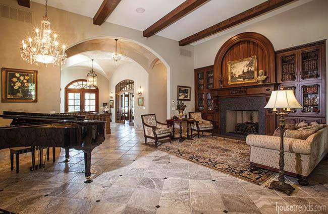 Custom woodwork dresses up a home
