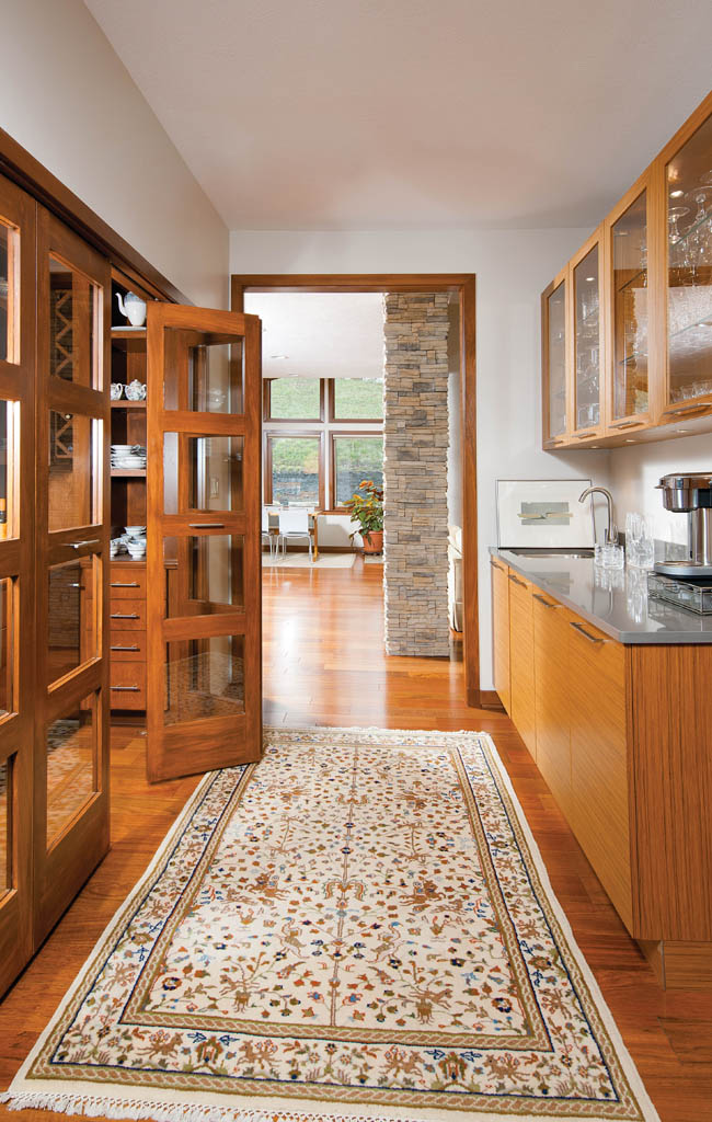 Butler's pantry offers convenient storage