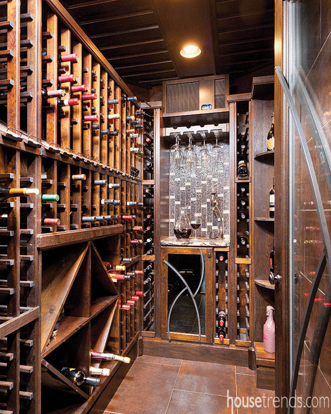 Wine cellar and kitchen are perfectly paired