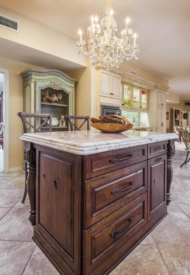 Kitchen island designs portray a vintage look