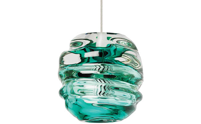 Pendant light adds a splash of color