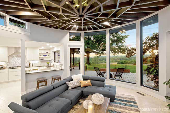 Unique ceiling catches the eye