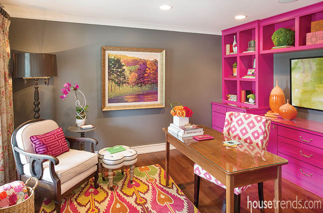 Bright And Cheery Home Office Ideas