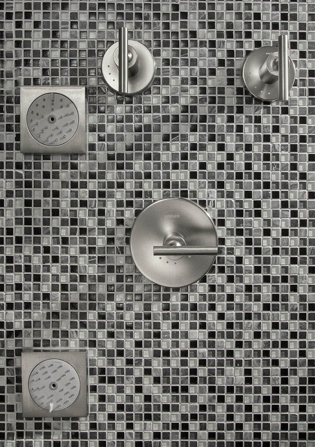 Kohler accessories add options to a shower design