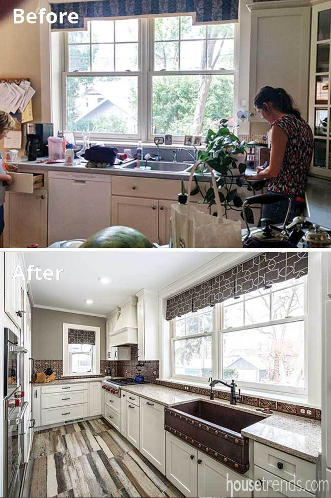 Farmhouse sink sets tone in a remodeled kitchen