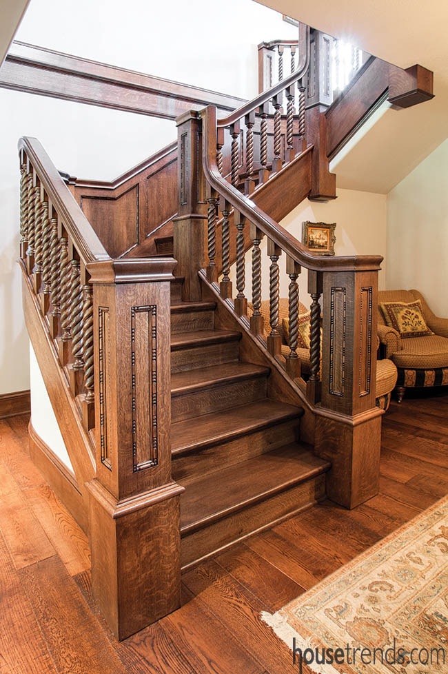 Staircase design mimics the past