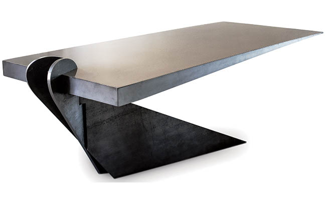 Unique table looks ready to topple