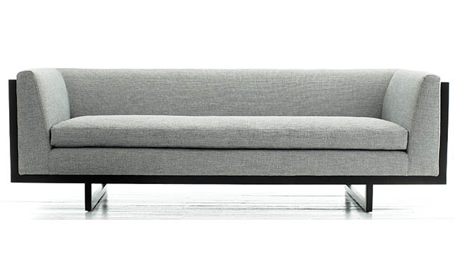 Sofa with steel details