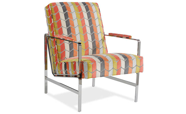 Colorful chair with a simple frame