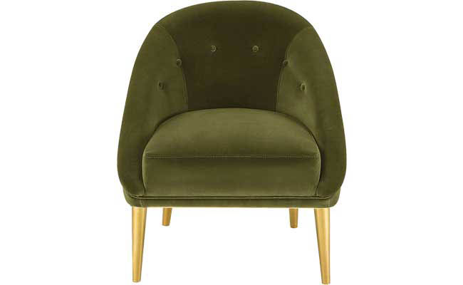 Olive green club chair