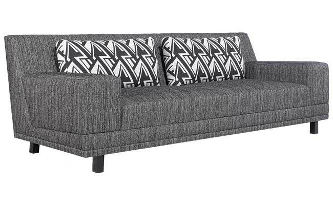 Sofa with decorative cushions