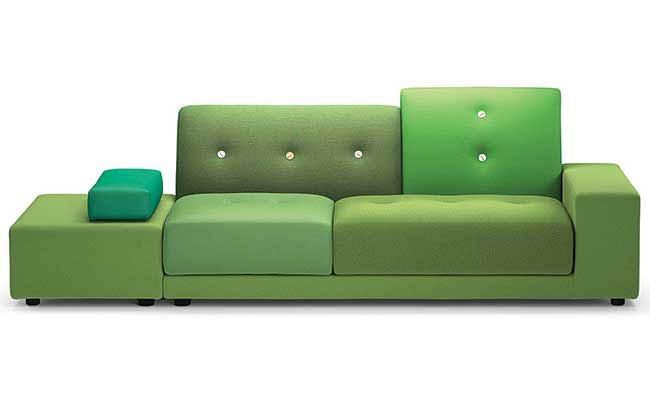 Sofa with an asymmetrical design