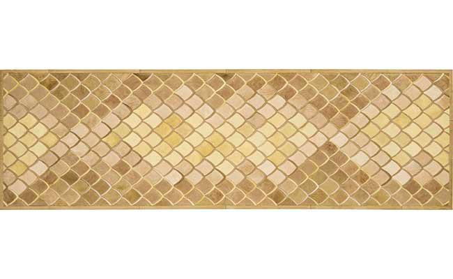 Rug inspired by reptile scales