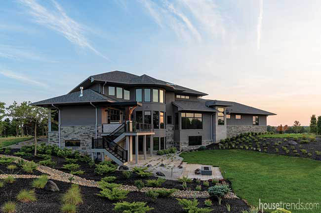 Landscape complements a new home