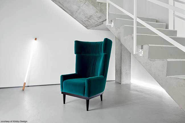 Velvet chair in a gorgeous color