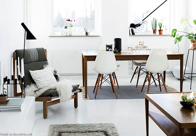 Scandinavian design offers clean lines