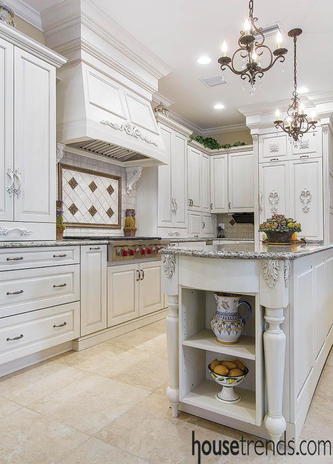 Kitchen island creates a prep space