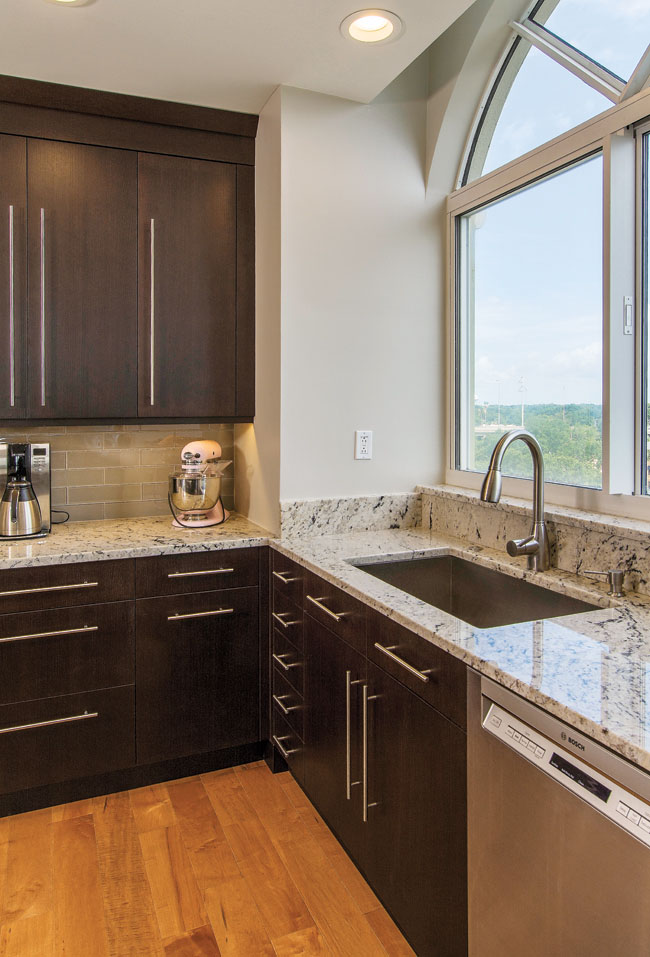 Kitchen sink comes with a stunning view