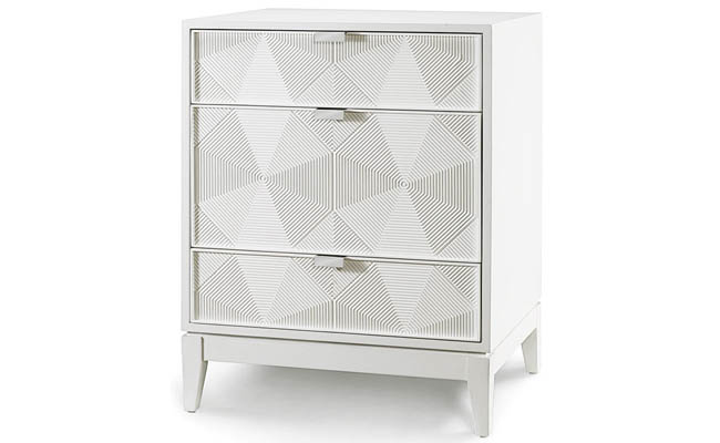 Textured front allows a side table to stand out