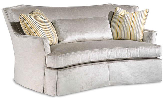 Plush sofa beckons to users
