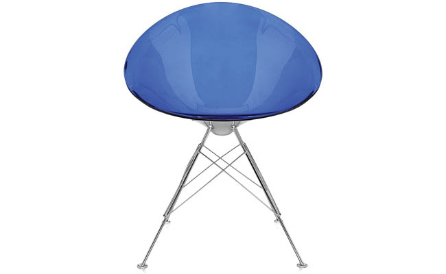 Fun colors complement a swivel chair