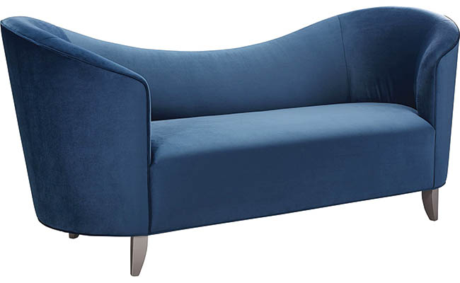 Curved sofa design catches the eye