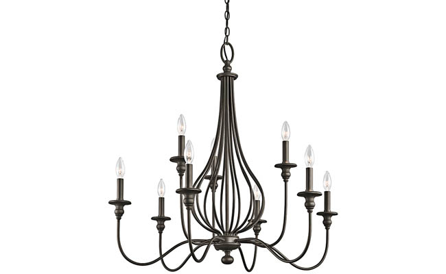 Chandelier adds old world elegance to a room