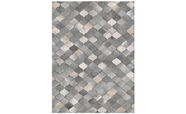 Area rug with natural hues draws the eye