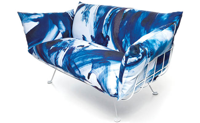 Plump sofa is perfect for relaxing