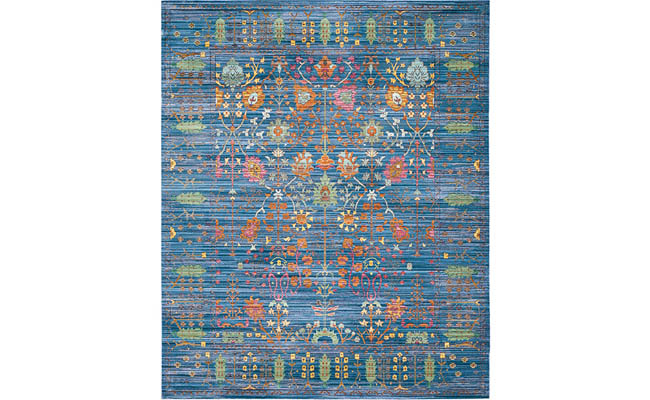 Colorful area rug dresses up any room