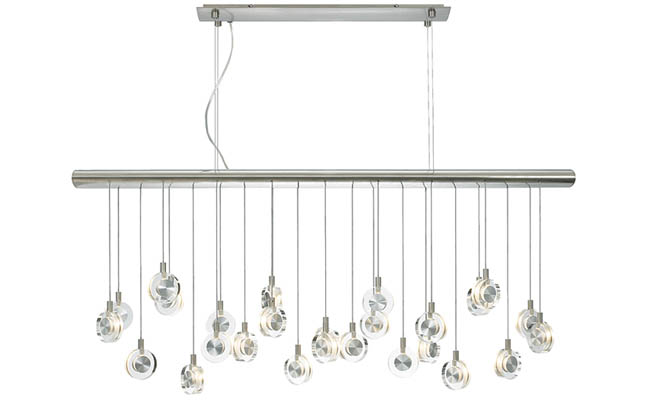 Dazzling linear light fixture