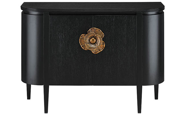 Elegant cabinet with a brass pull