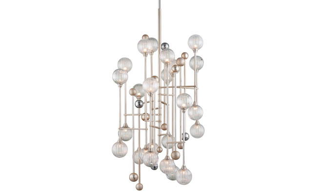 Pendant light with 24 individual lamps